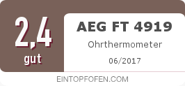 Testsiegel: AEG FT 4919 Ohrthermometer