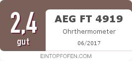 Testsiegel: AEG FT 4919 Ohrthermometer
