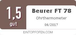 Testsiegel: Beurer FT 78 Ohrthermometer