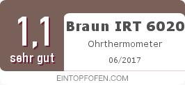 Testsiegel: Braun IRT 6020 Ohrthermometer