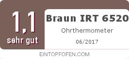 Testsiegel: Braun IRT 6520 Ohrthermometer